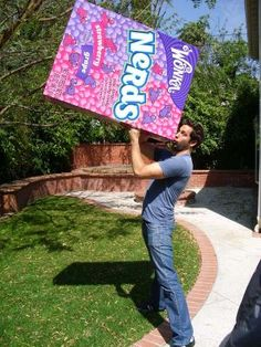 favorite flavor of nerds to go with my favorite nerd. you stay classy zach levi.