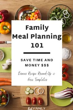 Planning healthy and delicious meals for your family doesn't have to be complicated or boring. You can plan healthy meals, even on a budget. This guide on family meal planning for beginners will show you how to use dinner themes and Pinterest to plan 365 meals in under one hour. Check out the clean eating meal plan recipe round-up for lots of healthy dinner ideas. Be sure to grab your free printable meal planning template too. #mealprep #mealplanning #dinnerrecipes #batchcooking…
