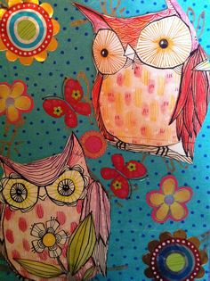 'Blue Owl Card' by Gail Anderson