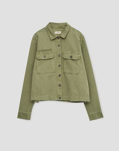 Overshirt with pockets - Coats and jackets - Clothing - Woman - PULL&BEAR Taiwan
