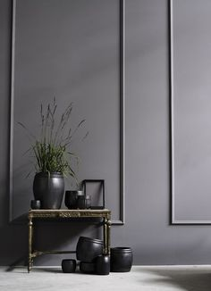 Image result for grey panelled walls