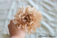 DIY Coffee Filter Rose Tutorial from Ruffles & Truffles.