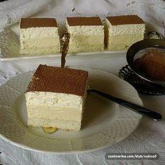 Fantastický dezert - ledové smetanové kostky. Vanilla Cake, Tiramisu, Cheesecake, Ethnic Recipes, Food, Trifles, Cheesecakes, Essen, Meals
