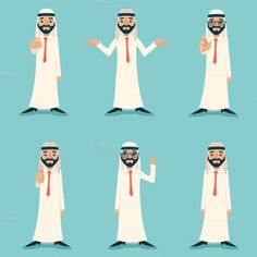 Finger Pointing Up Businessman Sale Presentation Cartoon Character Arab Traditional National Muslim Clothes White Board Icon on Stylish Background Retro Design Ouat, Flat Illustration, Illustrations, Retro Design, Cartoon Characters, Vector Art, Muslim, Art For Kids, Character Design