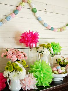 Make a Colorful Egg Garland in 35 Easter Decorating Ideas from HGTV
