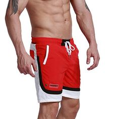 Fashion Summer Sexy Beach Men's Shorts Leisure Sea Men Board Shorts Patchwork Fast Dry Elastic Waist Shorts