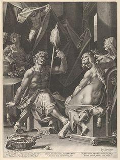 Aegidius Sadeler II   Hercules and Omphale   The Met