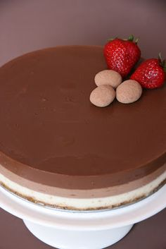 Xocolat and co: Tarta de tres chocolates