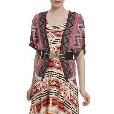 Casaco Tricô Étnico Rosa. #becool #fashion #fastfashion #streetstyle