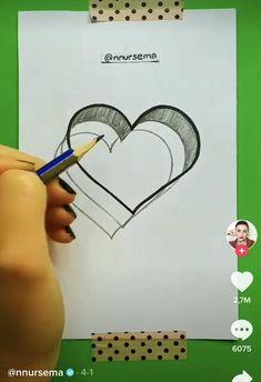 Cute Easy Drawings, Art Drawings Beautiful, Art Drawings For Kids, Art Drawings Sketches Simple, Pencil Art Drawings, 3d Art Drawing, Doodle Art Designs, Diy Canvas Art, Drawing Techniques