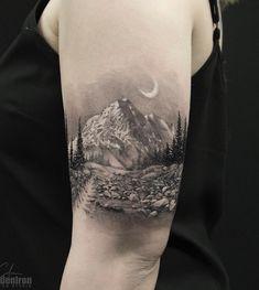 40 Landschafts Tattoo Ideen - Tattoo Motive - 40 Landschafts Tattoo Ideen You are in the right place about 40 Landschafts Tattoo Ideen – Tattoo - Great Tattoos, Unique Tattoos, Leg Tattoos, Small Tattoos, Tattoos For Guys, Tattoos For Women, Feminine Tattoos, Form Tattoo, Shape Tattoo