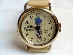 Vintage Holly Hobbie Character Watch by Bradley Time, Circa 1972