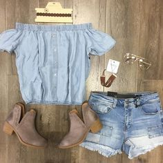 Nancy Button Top Off The Shoulder, Pastel, Buttons, Ankle, Boots, Outfits, Collection, Fashion, Clothing