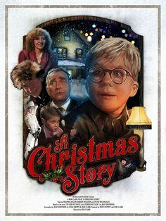 a christmas story movie poster art Christmas Story Movie, Christmas Movies List, Christmas Tree Lots, Christmas Shows, Vintage Christmas, Holiday Movies, Christmas Cakes, Holiday Fun, Be With You Movie