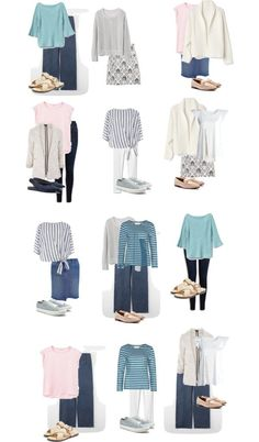 Spring 2018 Capsule Wardrobe Completely interchangeable capsule wardrobe with lots of classic pieces