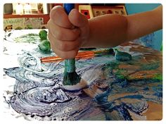 Painting with Vaseline Petroleum Jelly.
