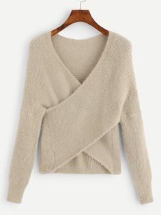 To find out about the Criss Cross Solid Jumper at SHEIN, part of our latest Sweaters ready to shop online today! Jumper, Cute Winter Outfits, Winter Clothes, Fashion Outfits, Womens Fashion, Fashion Trends, Fashion Styles, Casual Tops For Women, Cotton Sweater