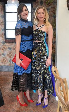 Glam girls! The actresses strike a pose while attending W Magazine's It Girls luncheon in Los Angeles.