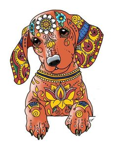 Art of Dachshund Coloring Book Collection https://www.amazon.com/dp/1533484120