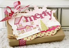 Large Merry Christmas Tag by Melissa Phillips for Papertrey Ink (October 2012)