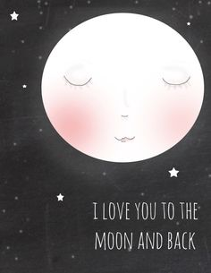Love you to the Moon and Back CHalkboard Art Art for Nursery   Moon Art  by RoseHillDesignStudio, $20.00