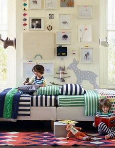 Hanna Anderson Home:: Scandinavian Kid Rooms in the US (I like the wall of pics & prints)