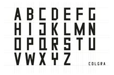 Colgra. A new typeface designed by Two