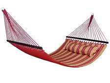 Hammock Quilted Fabric Double Wide Size Spreader Bar w/Pillow Patio Yard Outdoor Hammock Swing Chair, Hammock Stand, Swinging Chair, Garden Supplies, Garden Tools, Spreader Bar, Hammocks, Lawn And Garden, Outdoor Furniture