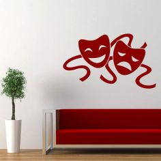 Wall decal decor decals art mask theater by DecorWallDecals, $28.99