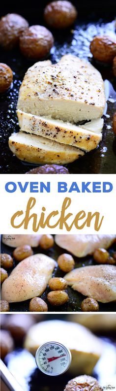 Delicious, tender, juicy oven baked chicken breast the whole family loves in less than 30 minutes! These chicken breasts are EASY to make and so versatile.