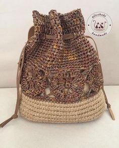 Khaki women s backpack summer woven bag for travelling – Artofit Pin by Hemlata Valia on Crochet Crochet Backpack, Crochet Pouch, Cute Crochet, Crochet Bags, Knit Crochet, Crochet Handbags, Crochet Purses, Handmade Handbags, Handmade Bags