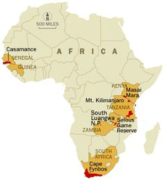 Africa Game Reserve Map