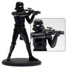 Star Wars: Shadow Trooper 1:10 Statue Ltd Ed -  Features a covert foot soldier of the Empire with weapon ready to fire. The 1:10 scale sculpture measures about 7 1/2-inches tall. Limited to 2,500 pieces.