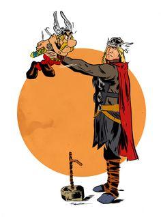 Asterix Vs Thor (Mitch Gerads)