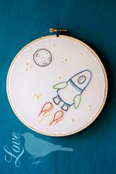 Outer Space Embroidery Pattern