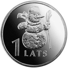 Snowman Coin by Schulinhaus on Etsy, $6.50