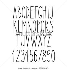 Doodle alphabet, vector simple hand drawn letters thin san serif marker font. Decorative font for books, posters, postcard, web hand drawn style typography.