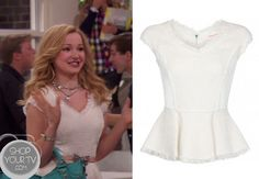 Liv and Maddie: Season 4 Episode 1 Liv's Orange Mini Skirt Basic Outfits, Cool Outfits, Liv Y Maddie, Liv Rooney, Dove Cameron Style, White Peplum Tops, Girl Fashion, Fashion Outfits, School Fashion