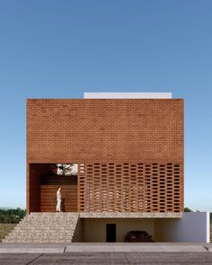 The World of Architecture Today Brick Architecture, Minimalist Architecture, Contemporary Architecture, Interior Architecture, Contemporary Interior, Brick Design, Facade Design, Exterior Design, House Design