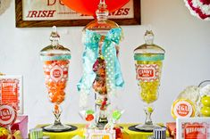 70's Inspired Candy Buffet