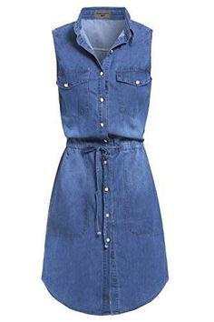 New Vintage Denim Blue Shirt Dress Sizes Blue Shirt Dress, Denim Shirt Dress, Jean Dress Outfits, Denim Vintage, Fix Clothing, Jeans Bleu, Cute Woman, Blue Denim, Casual