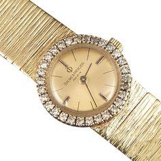Baume & Mercier 14k Gold and Diamond Ladies Watch...