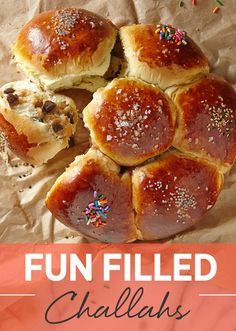 Fun Filled Challahs for Purim. Imagine a challah full of surprises, full of chocolate and treats. Yes, this easy challah recipe is full of surprises.