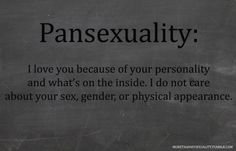Maybe I should self title as pansexual instead of bisexual. Maybe I'll get less carp about it? Hmm<<<No, it is easier/more accepted to identify as Bisexual. People understand bisexual, not very many people even know that being Pansexual is a thing. Pansexual Pride, Lgbt Love, Lgbt Community, Transgender, Lesbian, Saga, My Love, Pride Tattoo, Thats Not My