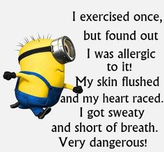 Allergic to exercise