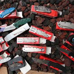 A collection of engraved knives at www.Kershaw-Knives.net, http://www.kershaw-knives.net/blog/?p=866, #kershawknives #knife #knives