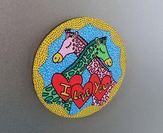 magnet aimant bois wood girafes amoureuses par BunnyHeartsYou #art #etsy #love #drawing #painting #illustration #girafe #giraffe #lovers #ily #diy #craft #magnet #cute #pretty #girly