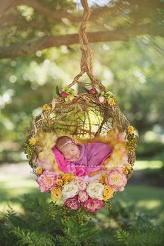 Newborn swing basket
