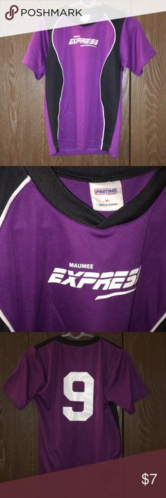 Youth soccer jersey (youth large) Purple and black. Youth soccer jersey. Fun to wear around. Comfy. Great quality. New condition. protime Shirts & Tops Tees - Short Sleeve