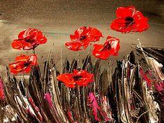 Poppies ART CANVAS IMPRESSIONIST IMPASTO ARTIST  Original Oil Painting    | eBay Abstract Canvas, Oil Painting On Canvas, Canvas Art, Red Poppies, Poppies Art, Texture Painting, Fine Art Gallery, Art Pictures, Artist
